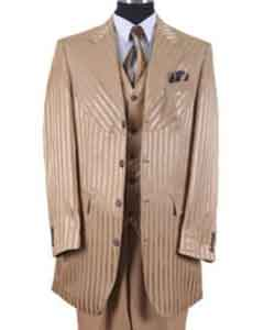 ID#SS-7415 Gold Shiny Stripe black men fashion Fashion Suit Best Inexpensive ~ Cheap ~ Discounted Blazer For Affordable Cheap Priced Unique Fancy For Men Available Big Sizes on sale Men Affordable Sport Coats Sale