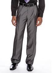 Alberto Nardoni Selection 2018 Flat Front Pants Gray