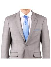 ID#DB17843 Gray Sharkskin 1 Button Cheap Clearance Sale Extra Slim Fit Prom Notch Lapel Groom & Groomsmen Suit