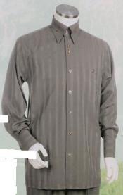 ID#TS631 Silver Gray Long length Sleeve 2pc Combo including Matching Wide Leg Dress Pants