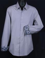 Fancy Slim Fit Dress Cheap Fashion Clearance Shirt Sale Online For Men - Cuff Pattern