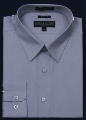 ID#KA5671 Slim Fit Dress Cheap Fashion Clearance Shirt Sale Online For Men - Gray Color