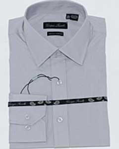 ID#KA6332 Gray Slim-Fit Dress Cheap Fashion Clearance Shirt Sale Online For Men