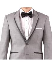 ID#KO17797 Cheap Clearance Sale Extra Slim Fit Prom Notch Lapel Groom & Groomsmen And Perfect For Wedding Suit