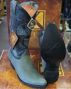 ID#SS-8755 King Exotic Gray Snip Toe Genuine Shark western  Boot