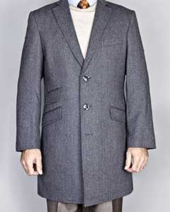 Herringbone Long Jacket Tweed
