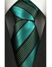Green With Textured Stripe