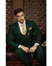 Green Suits Notch Lapel