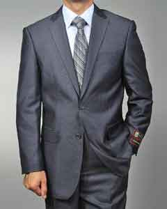 ID#GR4562 Grey Teakweave 2-button Cheap Priced Fitted Tapered cut Suit