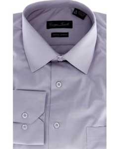 ID#BTH7299 Modern-fit Dress Cheap Fashion Clearance Shirt Sale Online For Men Grey