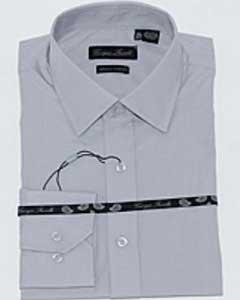 ID#TRJ7834 Slim-Fit Dress Cheap Fashion Clearance Groomsmen Shirts Sale Online For Men Basic Solid Plain Grey