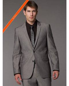 ID#WM9202 Grey Tonic Inexpensive ~ Cheap ~ Discounted Clearance Sale Extra Slim Fit Prom Cheap Priced Fitted Tapered cut Suit