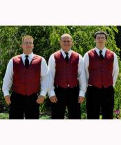 Button Groomsmen Burgundy Wedding