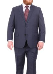 Blue Wool Notch Lapel