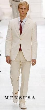 Lightest Weight Fabric Ivory ~ Off White Suit