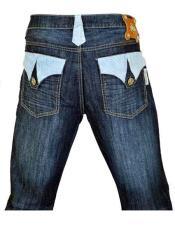 Hornback Alligator Jeans Navy