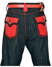 Hornback Alligator Jeans Red