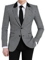 Button Houndstooth Pattern