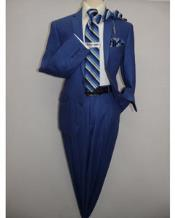 ID#VJ16248 Bright Blue Indigo ~ Cobalt Blue ~ Teal New Blue 2 Button Style Regular Cut Summer Suit