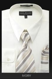 ID#KN7289 Dress Cheap Fashion Clearance Shirt Sale Online For Men - PREMIUM TIE - Ivory