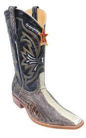 ID#KA8021 Ostrich Leg Leather skin Cream ~ Ivory ~ Off White Authentic Los altos Western Boots Western Wear Rider