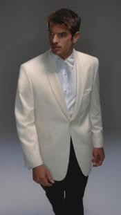 ID# SY347 Wool fabric Dinner Jacket  - Ivory Dinner Jacket