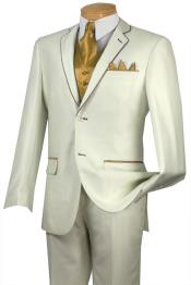 Two Button Notch 5-Piece Ivory Tuxedo