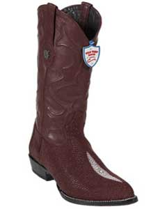 Wild West J-Toe Burgundy ~ Maroon ~ Wine Color Single Stone Western Dress Cowboy Boot Cheap Priced For Sale Online