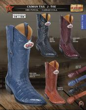 ID#AV32 Authentic Los altos J-Toe Genuine Caiman skin ~ Gator skin Tail western  Boots Diff. Colors/Sizes