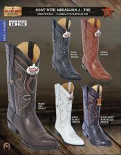 ID#P2A3 Authentic Los altos J-Toe Goat w/ Medallion western  Boots Diff. Colors/Sizes