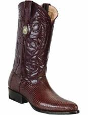 ID#TM15214 Handcrafted Genuine Lizard Skin With Leather Insole Brown Dress Cowboy Boot Cheap Priced For Sale Online