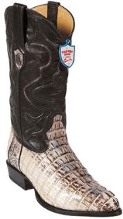 ID#RB7400 Wild West J-Toe Natural Caiman skin ~ Gator skin Tail Western Boots
