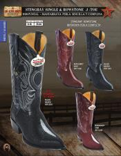 ID#X09F Authentic Los altos J-Toe mantarraya stingray Rowstone western  Boots Diff. Colors/Sizes