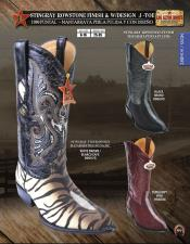 ID#K33D Authentic Los altos J-Toe mantarraya stingray Rowstone western  Boots Diff. Colors/Sizes