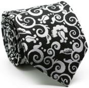 ID#MK213 Premium Jacquard Paisley Groomsmen Ties Dark color black