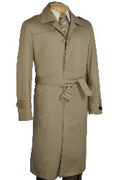 ID#KH2271 Khaki  Dress Coat Cheap Priced Available In Big & Tall Sizes Trench Coat
