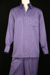 Stripes Long Sleeve Lavender