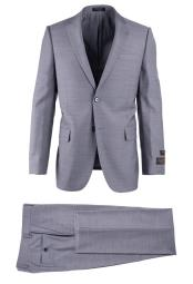 Gray Wool Modern Fit