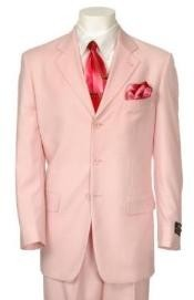 Light Pink Three Buttons suit