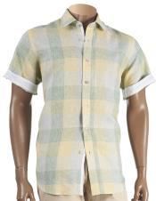 Closure Linen Short Sleeve