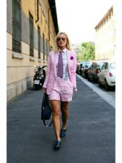 Pink Linen Suits Fabric