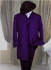 ID#DPR8991 Classic Long length Dark Purple pastel color Fashion Zoot Suit
