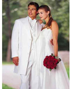 ID# 287 Classic Modern Long length er 36 Inch White zoot Tuxedo For Men