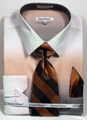ID#DB23230 Beige Button Closure Long Sleeve Spread Collar Dress Cheap Fashion Clearance Shirt Sale Online For Men