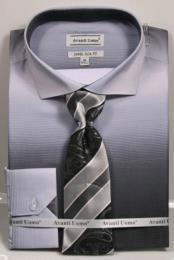 ID#DB23236 Long Sleeve Button Closure Spread Collar Dress Cheap Fashion Clearance Shirt Sale Online For Men Black