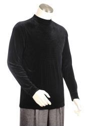 ID#DB23950 Velvet Grid Long Sleeve Black Walking Suit