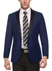 ID#SP24996 Long Sleeve Cheap Fashion Dark Blue Big and Tall Large Man ~ Plus Size Plus Size  Sport Coats