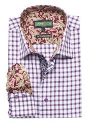 Sleeve Burgundy Cotton Jacquard