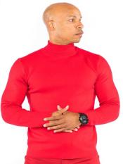 Sleeve Red Classic Knit