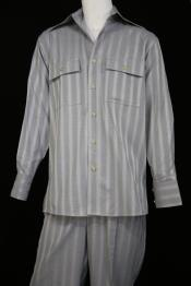 Sleeve Silver Stripe Button